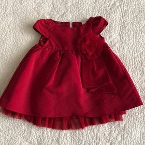 Red BabyGap dress with flower